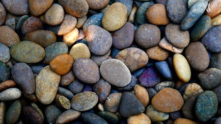 colorful pebble beach stone background
