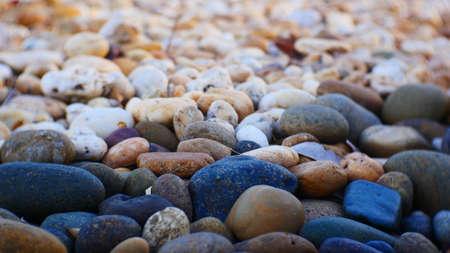 pebble stone texture on the ground.