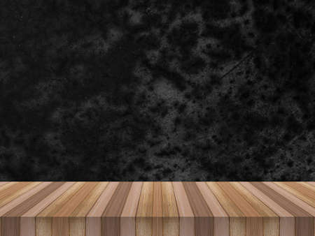 wood table on gold aluminium foil texture background for product display, gold metal plate and wood board