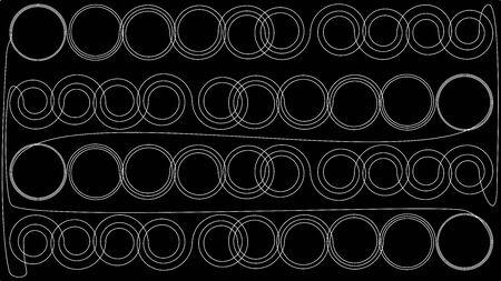 Infinite circular loop. Endless Thinking. Illusztráció