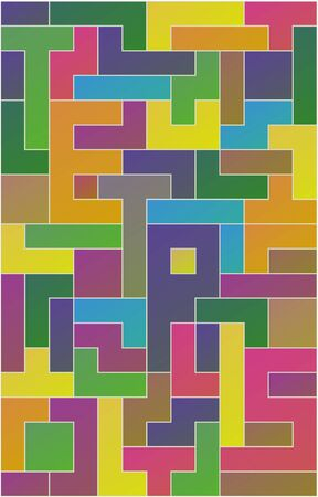 Tetris game with variety of shapes and colours. Çizim