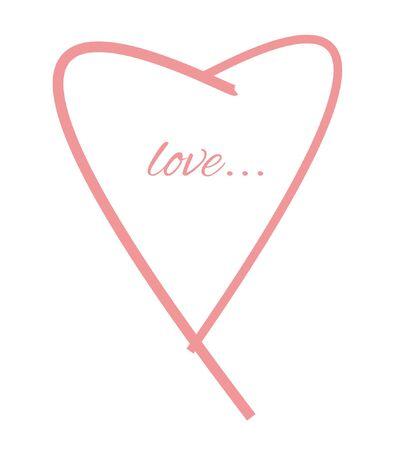 Simple elegant love heart. Icon.