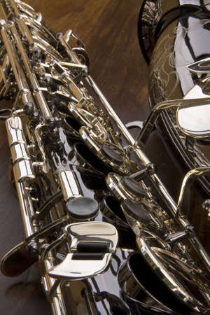 saxy: Close up of saxophone keys