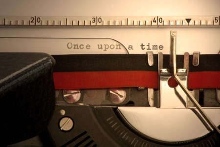 Once upon a time typed on an old typerwriter 스톡 콘텐츠 - 3070355