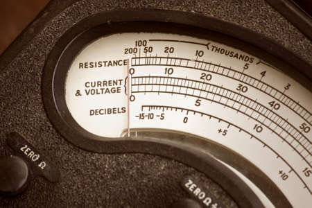 Old test meter for electrical circuits photo