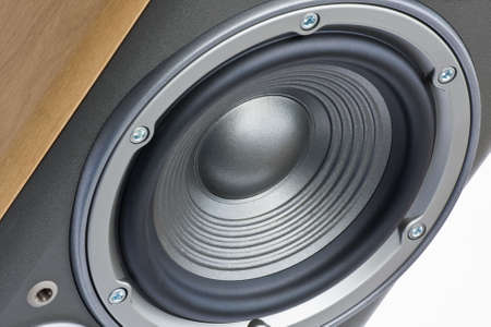Close up of hifi speaker woofer photo