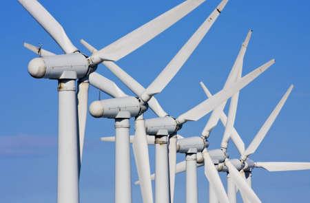 windfarm: Close up of windmills in windfarm