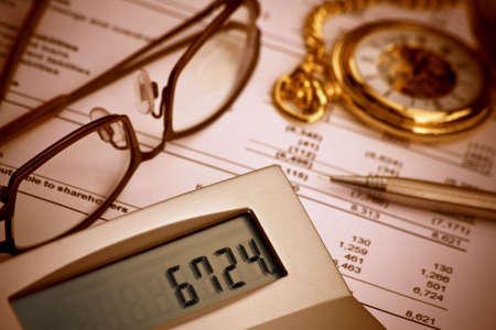 Verifying balance sheet photo
