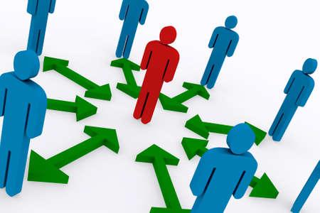 Business concepts, teamwork 3d Illustration