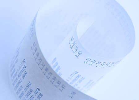 Close-up of a store shopping bill