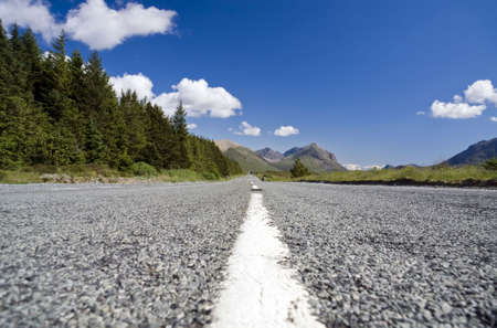 Open country road in the Scottish highlands Stock Photo