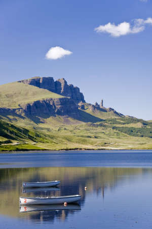 highland region: Old Man of Storr on the Isle of Skye in Scotland  Stock Photo