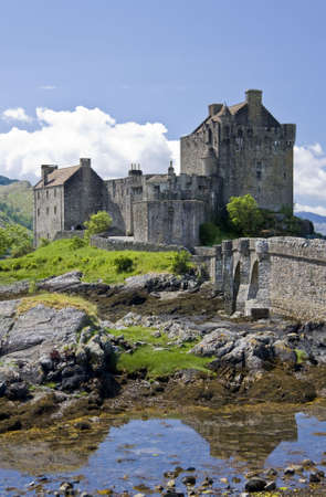 Eilean Donan Castle in Dornie near Kyle of Lochalsh in Scotland