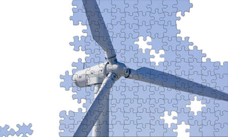 Solution to climate change puzzle with copy space photo