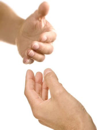 offering: Helping hand reaching out to offer support and assistance Stock Photo