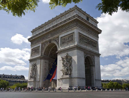 napoleon i: Paris architecture, Arc de Triomphe in the Champs-Elysees Quarter