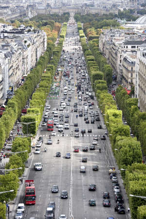 Champs-Elysees taken from the top of the Arc de Triomphe