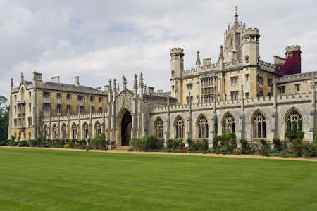 school campus: The New Court St Johns College at Cambridge University