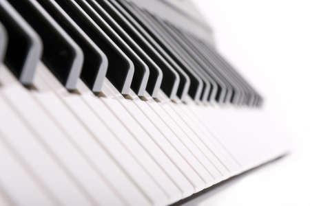 diminishing perspective: Detail of keyboard keys with diminishing perspective