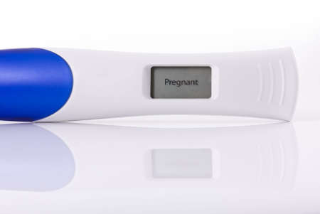 Pregnancy test isolated on a white background
