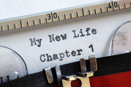 My new life chapter one concept for fresh start, new year resolution, dieting and healthy lifestyle photo