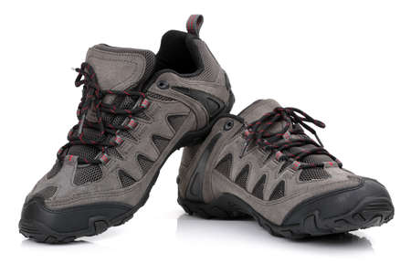 unbranded: New unbranded hiking shoes or boots isolated on white