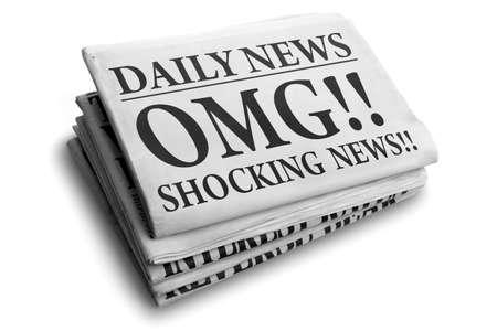 Nouvelles quotidiennes de journal de lecture OMG nouvelles choquantes concept de nouvelles étonnante