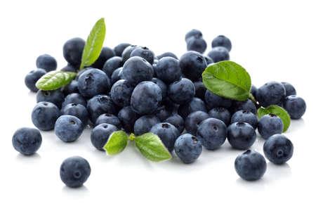 superfood: Blueberry antioxidant superfood isolated on white Stock Photo