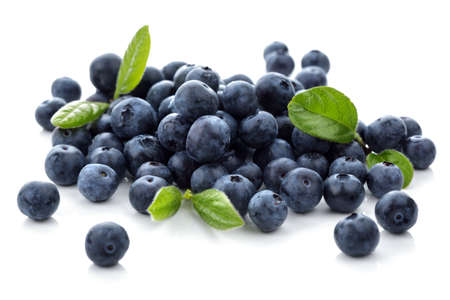 Blueberry antioxidant superfood op wit wordt geïsoleerd