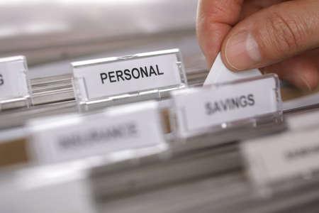 서류 캐비닛 개인 - 검색 또는 confidentia 파일에 대 한 개념에 가까이