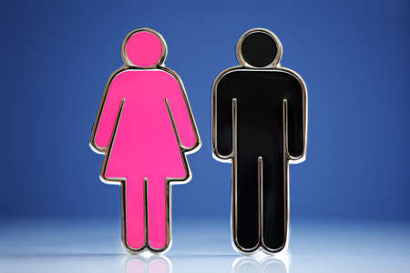 Male and female gender symbols concept for love, relationship, dating etc photo