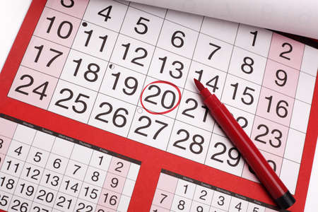 important reminder: Red circle marked on a calendar concept for an important day or reminder