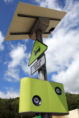 electric station: Electric and hybrid cars top up zone Stock Photo