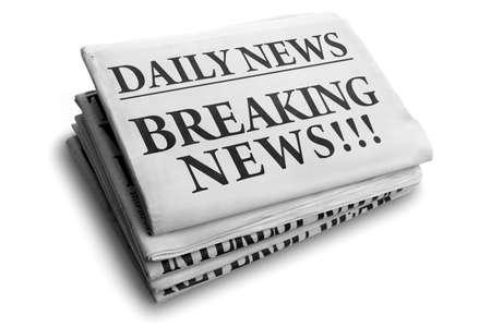 newspaper headline: Daily news newspaper headline reading breaking news