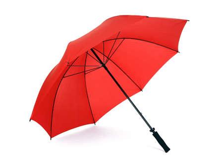 red umbrella: Red umbrella isolated on white
