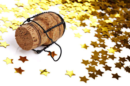 engagement party: New years eve, wedding, engagement, Christmas party - confetti and champagne cork