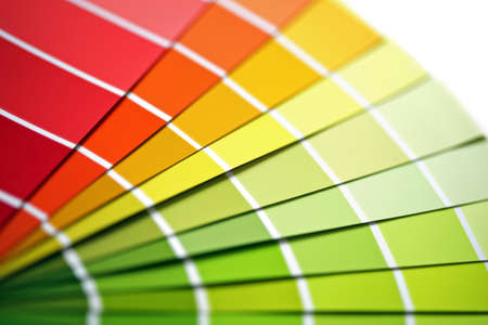 descriptive colors: Colour sample chart close up