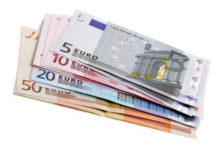 billets euros: Billets monnaie européenne pile de l'argent Euro Banque d'images