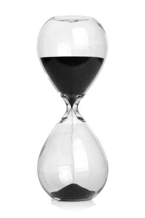 Hourglass isolated on white