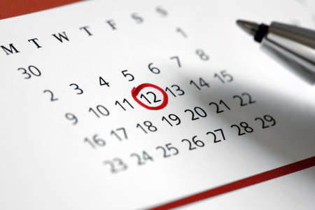 important reminder: Circle marked on a calendar concept for an important day or reminder