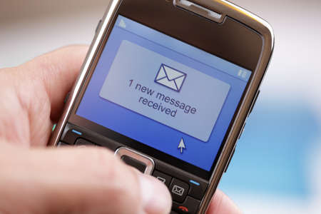 received: Text message received on a mobile phone