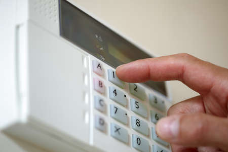 Arming a home or business security system photo