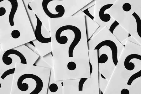 punctuation mark: question cards