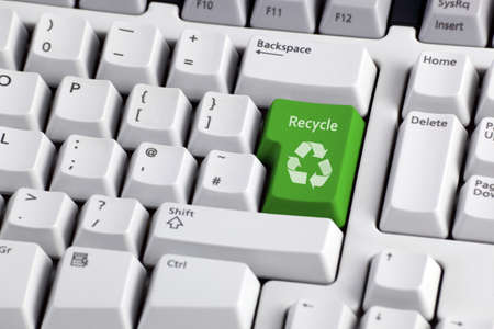 Recycling concept - recycle enter key on computer keyboard photo