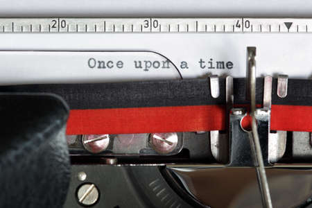once: Once upon a time typed on an old antique typewriter