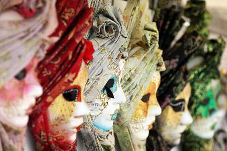 Carnival or mardi gras costume masks in Venice photo
