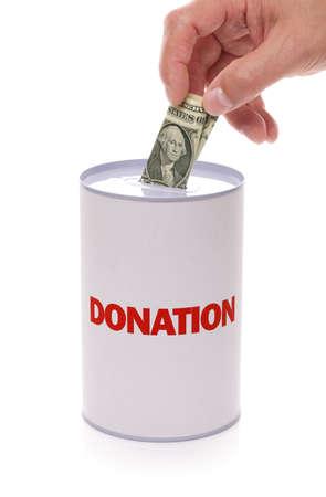 donacion de organos: Caja de recogida de donaci�n con la mano donar el concepto de dinero para la caridad y el trabajo de socorro, ayuda y apoyo