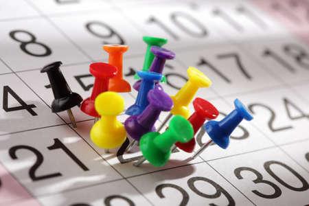 kalendarz: Ważne daty lub koncepcja męczącym dniu jest przepracowany Zdjęcie Seryjne