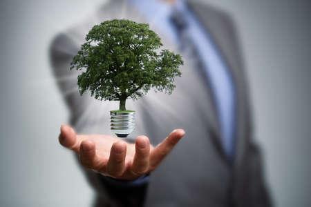 Duurzame hulpbronnen, duurzame energie en behoud van het milieu-concept Stockfoto