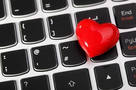 Love Or Online Internet Dating Concept Heart Shape Symbol On Stock
